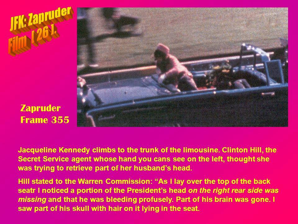 JFK: Zapruder Film [ 26 ]. Zapruder Frame 355